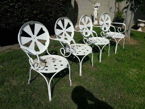 Heavy Wrought Iron Patio Armchairs. Vintage FarmAccent ChairsWrought ... - 196 Best Antique & Vintage Farm & Gardens (Buyer For Hire) Images
