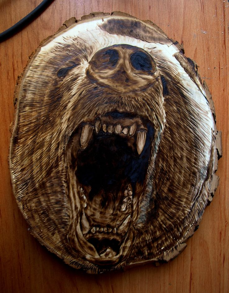 3D pyrography 100% handmade, eco art