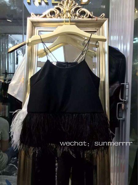 Мечта жилет подол тенденция в страусиные перья меховой жилет богиня дикая сексуальная клубная одежда
