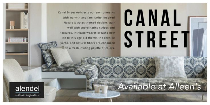 The Canal Street Collection from #AlendelFabrics available at Alleen's locations