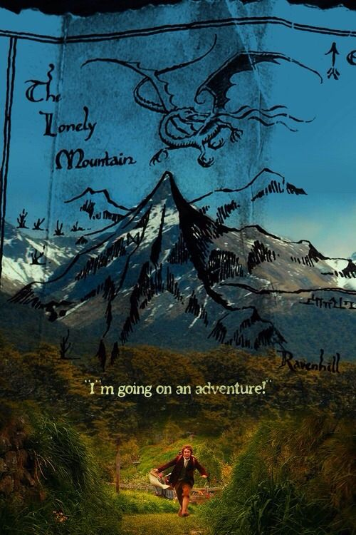 The Hobbit fan art.. Truly Magical cross between The Lord of the Rings Map and actual movie footage.