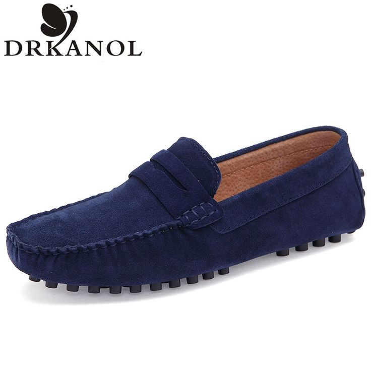 New 2016 Autumn Luxury Brand Mens Flats Shoes Genuine Leather Loafers Slip  On Soft Comfortable Driving