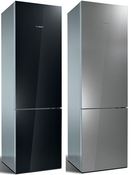 "Super Sleek New Bosch""Metal Behind Glass"" Refrigerator 