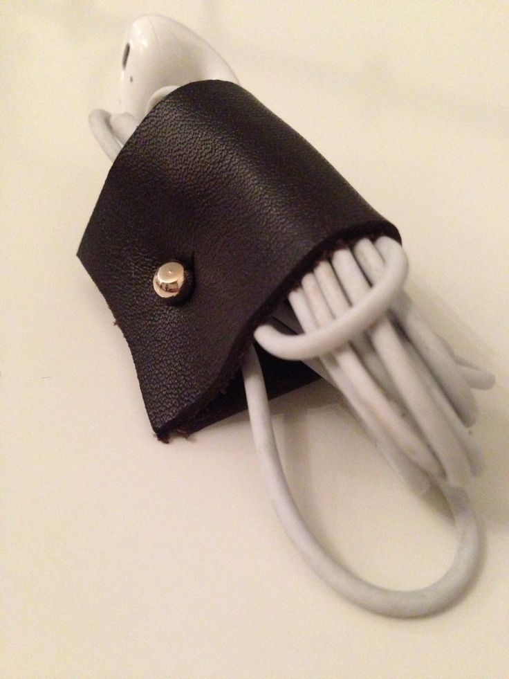 Leather ear plug holder!