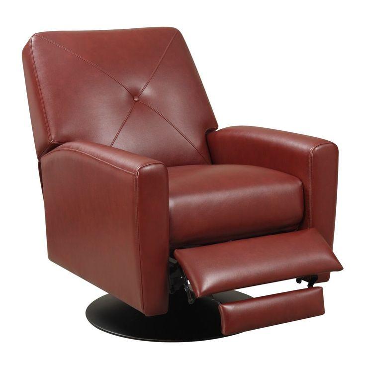 Wesley Black Base Swivel Recliner Chair