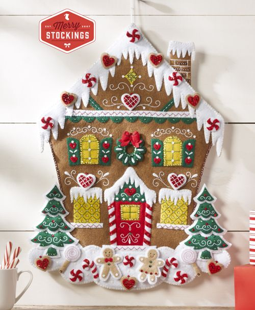 Bucilla Nordic Gingerbread House Advent Calendar Kit