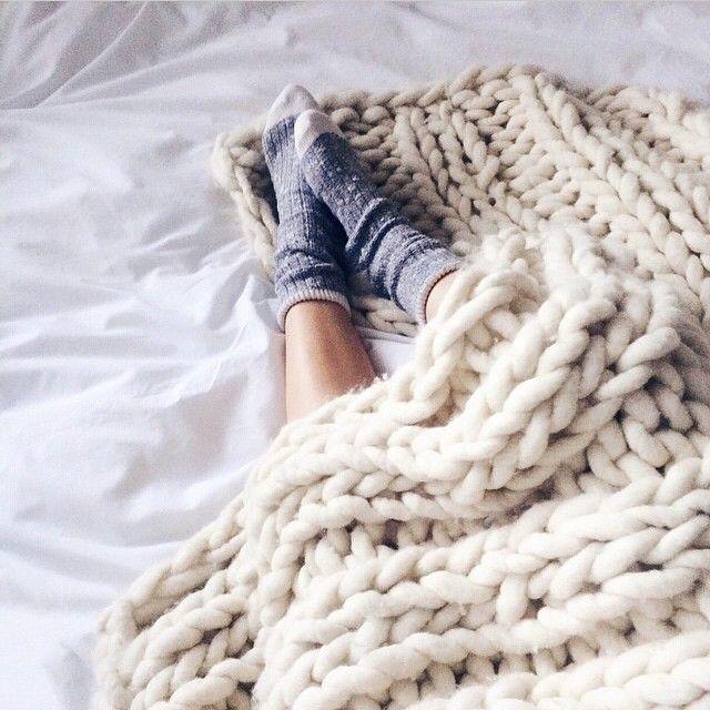 DIARIODECO: Manta de lana gruesa DIY(medidas)