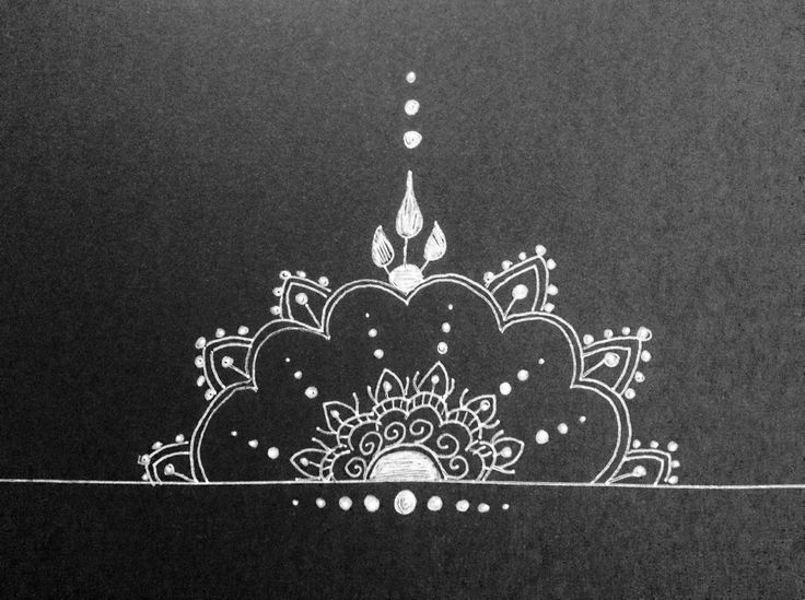 mandalas design:   black card | white pen
