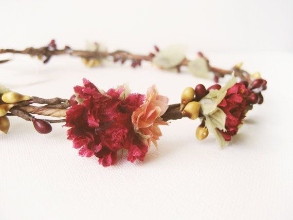 Rustic wedding hair accessories Fall flower crown by NoonOnTheMoon https://www.etsy.com/listing/199967318/rustic-wedding-hair-accessories-fall?ref=sc_1&plkey=54e248386dfea646a1a47d8493f3c3703b78bfaf%3A199967318&ga_search_query=autumn+headpiece&ga_page=4&ga_search_type=all&ga_view_type=gallery