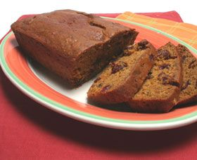 Cranberry sweet potato bread. Delicious and it contains cancer fighting antioxidants!