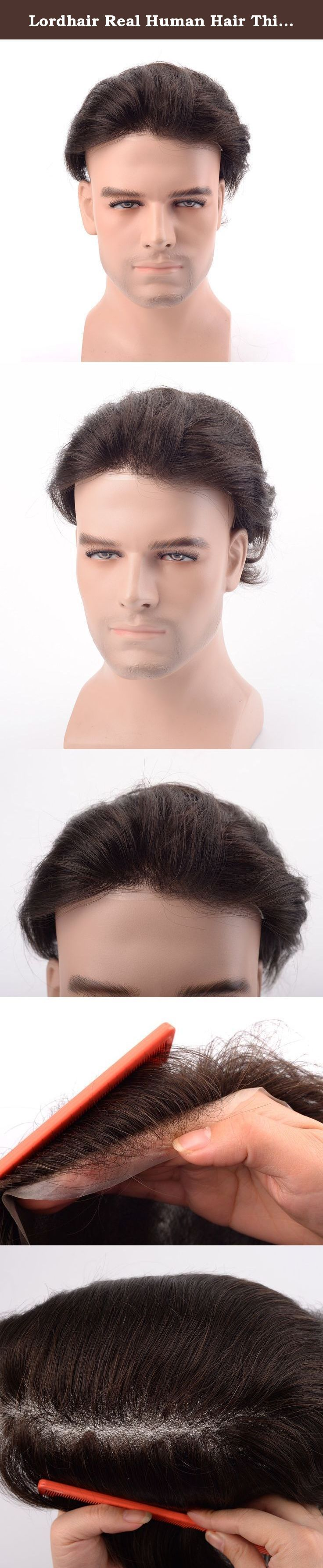 "Lordhair Real Human Hair Thin Skin Men's Toupee For Men V-looped Hair Color 1B# Off Black Hair Pieces For Men. Lordhair Real Human Hair Super Thin Skin Men's Toupee FAQ: 1. Default Cap Size is 8""X10""Cap 2. The hair could be cut and styled according to your choice. 3.HAIR Type:human hair,(HUMAN HAIR will show white smoke while burning and will turn to ASH; Synthetic hair will show black smoke and will be a sticky ball after burning) Length:5- 6 Inches (Stretching the hair to be STRAIGHT…"