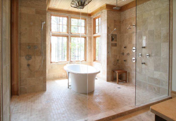 WET ROOM W FREESTANDING TUB Bathrooms Pinterest
