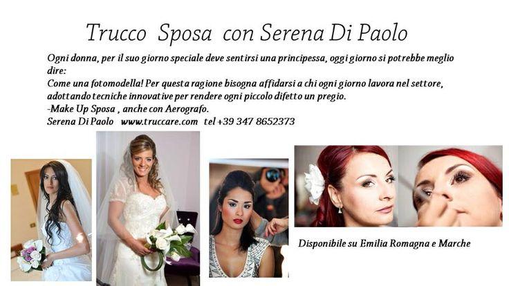 Serena di Paolo trucco sposa rimini. Www.truccare.com