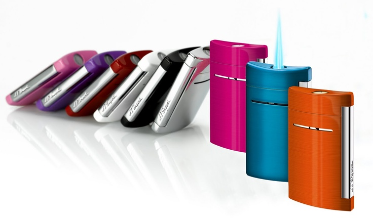 S.T. Dupont MiniJet Lighters. Elegant, contemporary and powerful!   At $99,90 (euro) Worldwide delivery available via www.Mathos-Exclusive.com