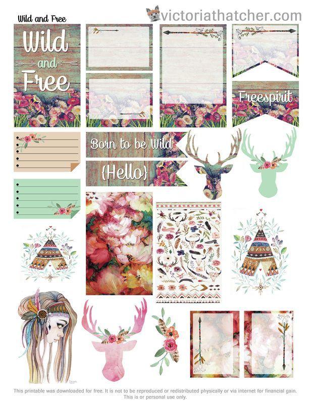 Free Wild & Free Printable Planner Stickers | Victoria Thatcher