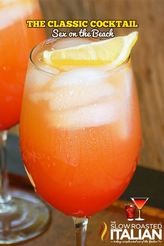 Sex on the Beach is perfectly sweet and the epitome of summer. Perfect cocktail for any day, don't you think?  This perfectly sweet fruit flavored cocktail will transport you to your favorite get away!