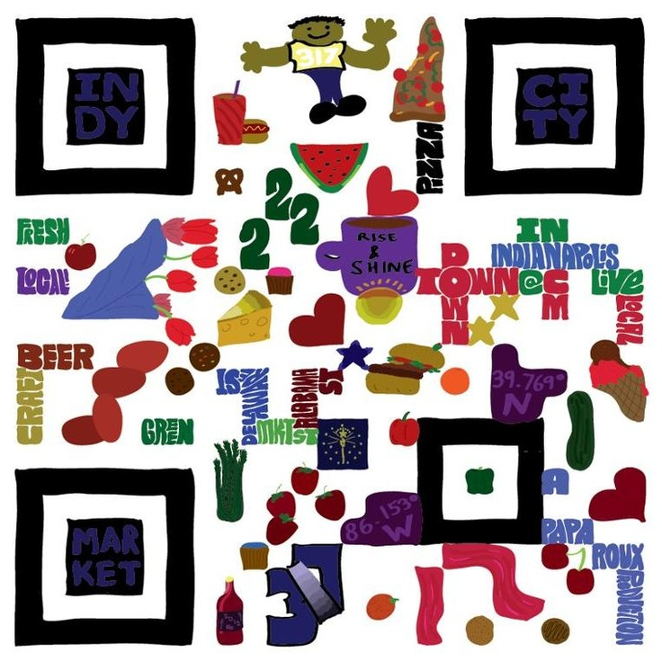 Insanely clever art!  Hand-painted QR codes that are scannable.  :-)