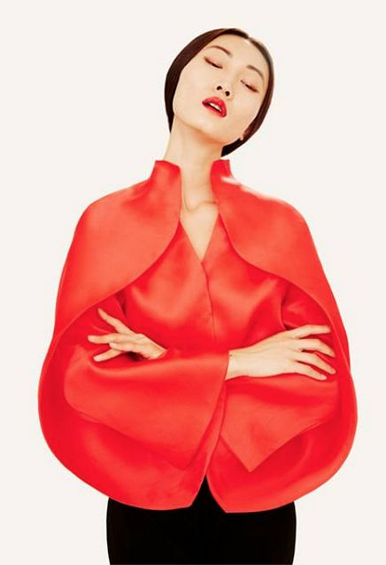 Fashion we like / REd Blouse / Minimal / Round / Asian / at Sybilla