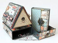 graphic 45 Cityscapes, Photo House, Chipboard keepsake box, DIY chipboard box