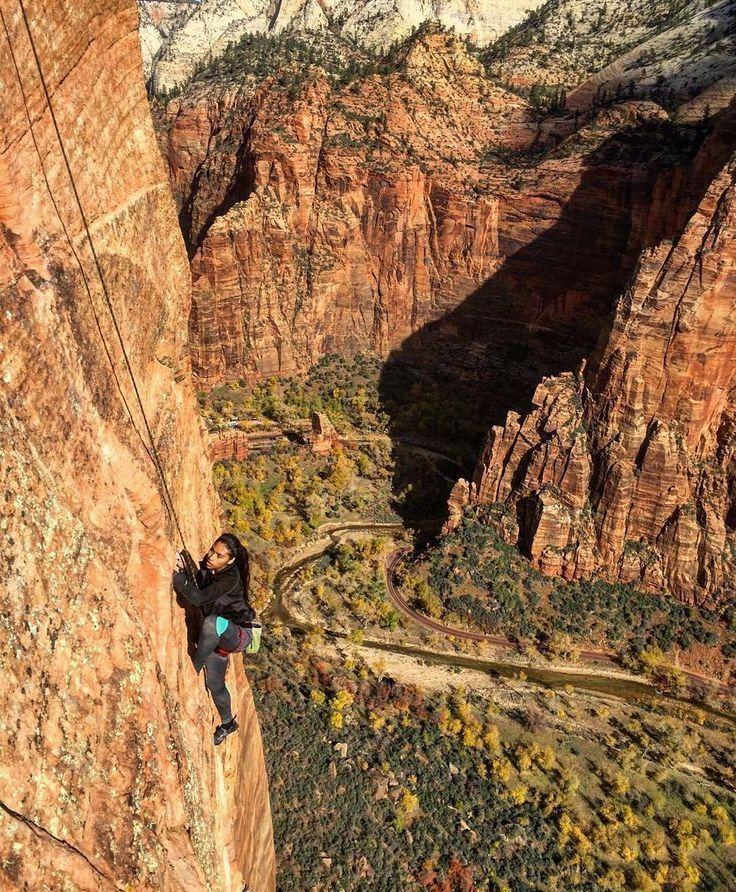 Climbing at Zion National Park