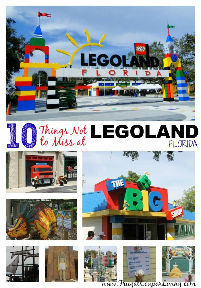10 Things Not To Miss At LEGOLAND, Florida - full list on Frugal Coupon Living.