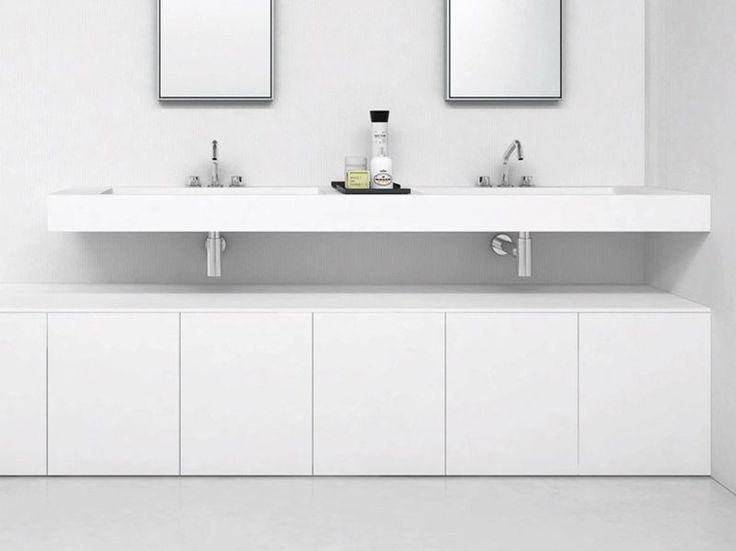 Die besten 25+ Doppel waschtisch Ideen auf Pinterest Haupt-Bad - badezimmerschrank mit waschbecken
