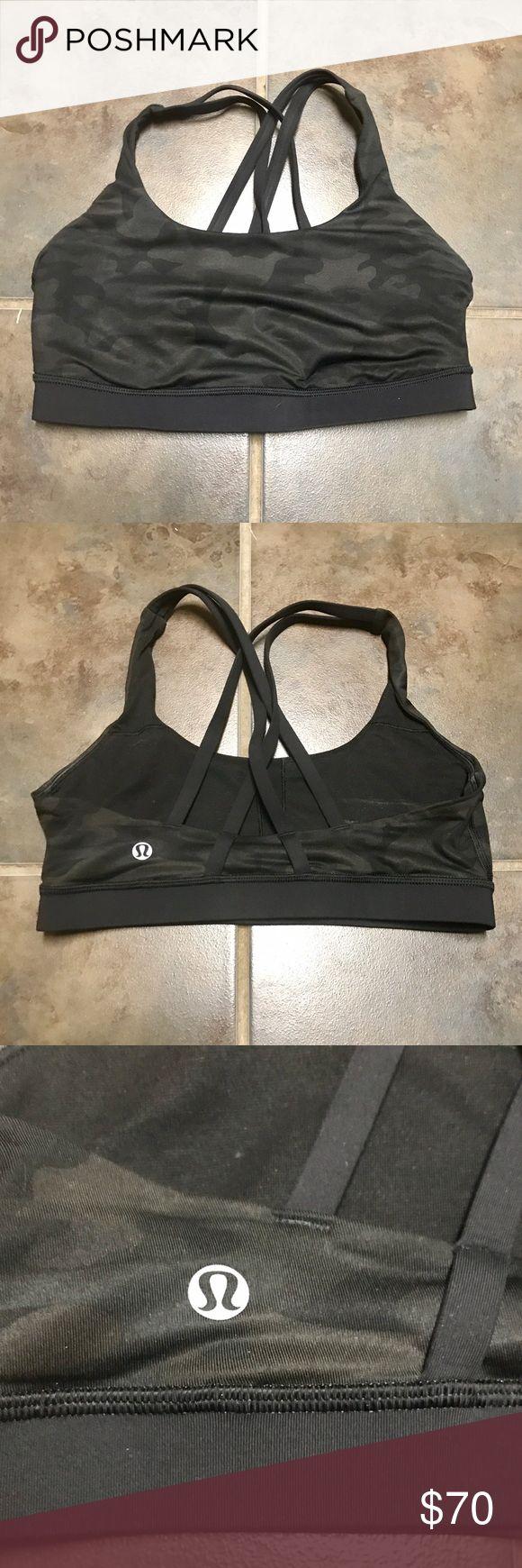 Lululemon dark camo bra.  Excellent condition!! Beautiful dark camo bra.  Excellent condition size 6 lululemon athletica Intimates & Sleepwear