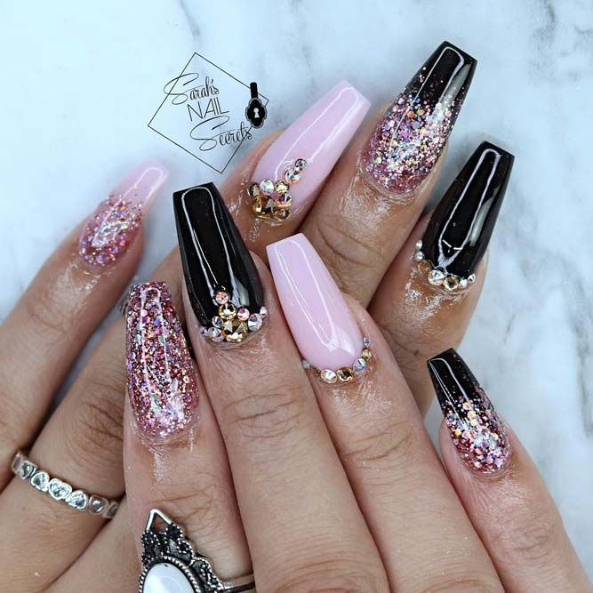There are most popular designs for coffin nails in our gallery. Find out  which designs are the most complementary for coffin nails and recreate your  ... - 30 Coffin Nail Designs You'll Want To Wear Right Now Coffin Nails