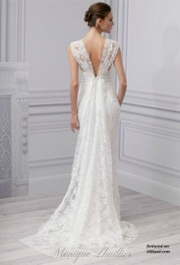 Monique Lhuillier Spring 2013 Sincere Wedding Dresses with Sexy Backs