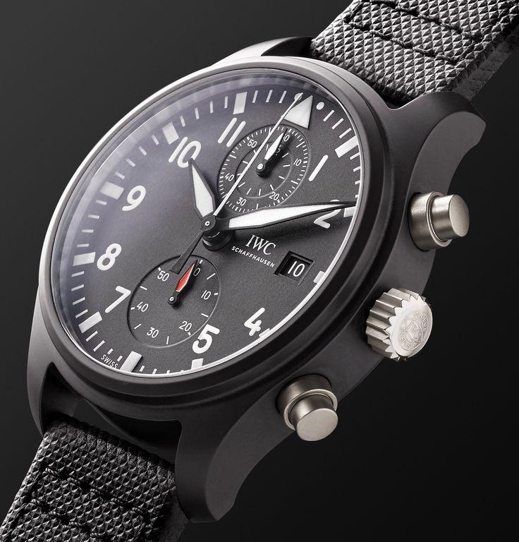IWC SCHAFFHAUSEN Pilot's Chronograph TOP GUN 44mm Ceramic And Leather Watch