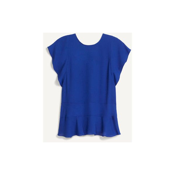 Royal Blue Flowy Blouse | Stella & Dot | Stella & Dot ($59) ❤ liked on Polyvore featuring tops, blouses, blue blouse, royal blue blouse, royal blue top, electric blue blouse and electric blue top
