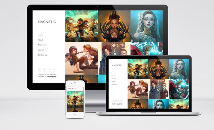 Magnetic – Free HTML5 Responsive Portfolio Web Template