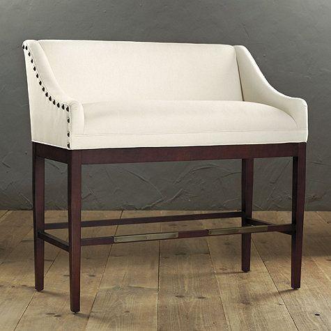 Elegant Bar Bench with Back