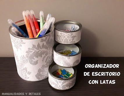 Portalápices con latas #diy #escritorio #portalápices