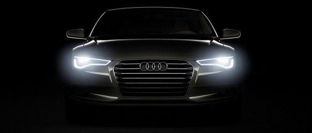 Audi  Sportback Concept Front Lights Black 2009 Wallpaper HD CarsWallpaperHD.com