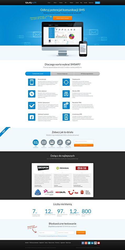 Chwalimy się nową stroną! Sprawdźcie sami : http://www.smsapi.pl/ #smsapi  #grafikpłakałzeszczęścia #usabilitytakieważne #rwd #website #layout #bootstrap