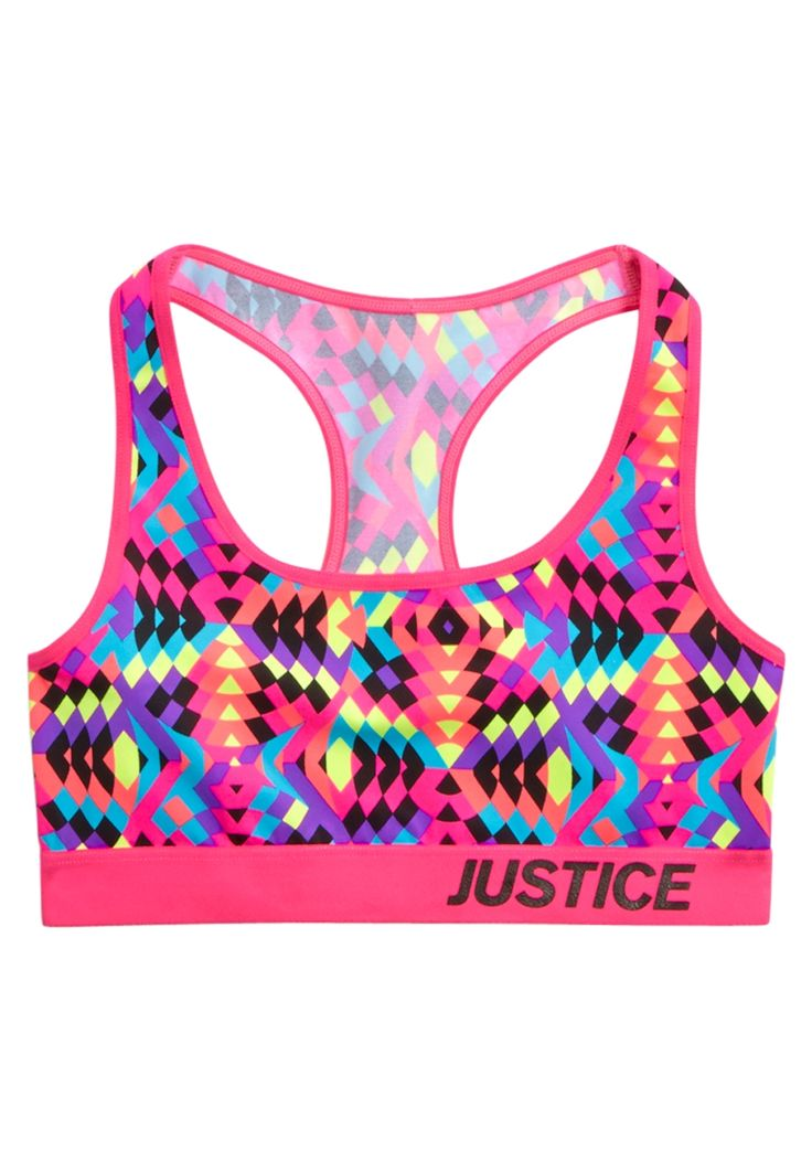 Printed Sports Bra (original price, $17.90) available at #Justice