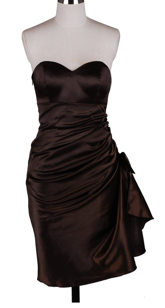 33 best chocolate brown wedding images on pinterest for Brown dresses for a wedding