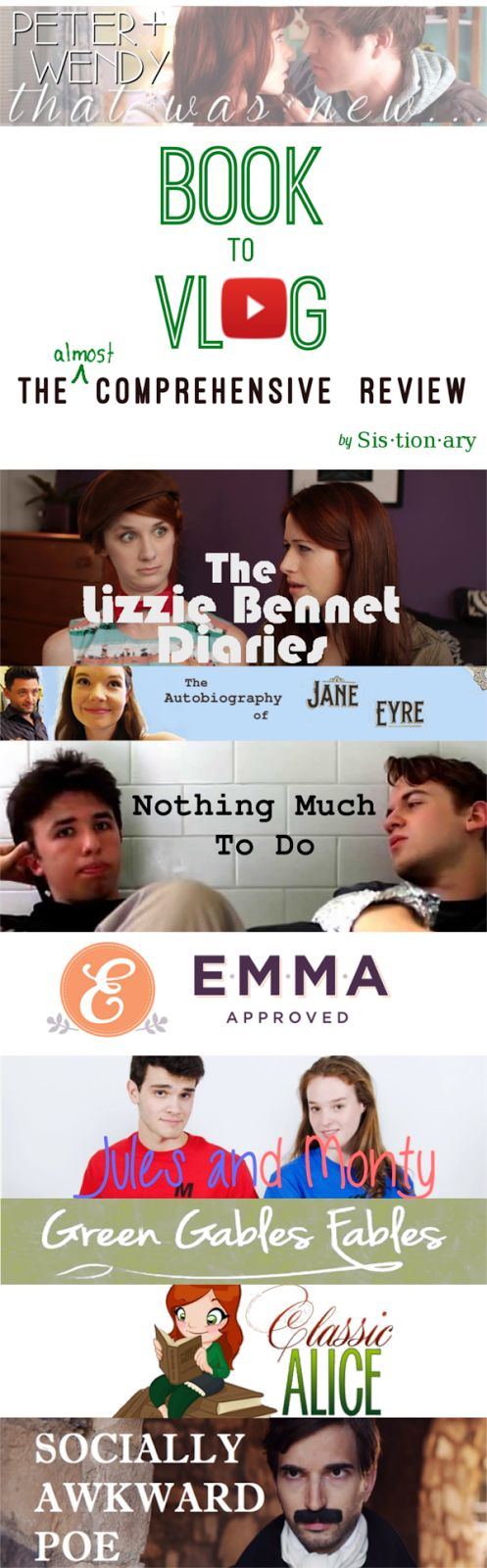 A Ton Of Great Book Adaptions On Youtube Lizzie Bennet Diaries  Autobiography Of Jane Eyre Nothing