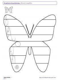 vlinder met schrijfpatronen
