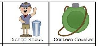 Classroom Jobs with a Camping Theme!