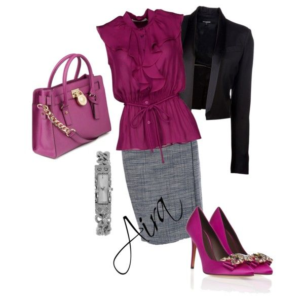 """""""Pink office"""" by aira-h-l-k on Polyvore"""