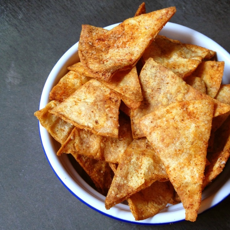 Smoky Baked Corn Tortilla Chips - healthy twist on the salty snack.