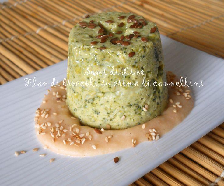 Flan di broccoli su crema di cannellini - Ricetta Sformatini
