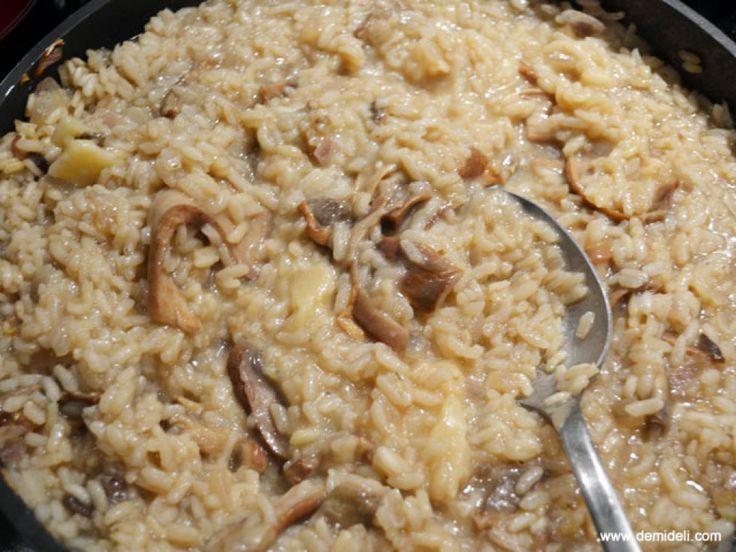 Ριζότο με μανιτάρια πορτσίνι