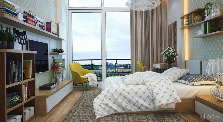 moderne Schlafzimmermöbel in weiß und Holz