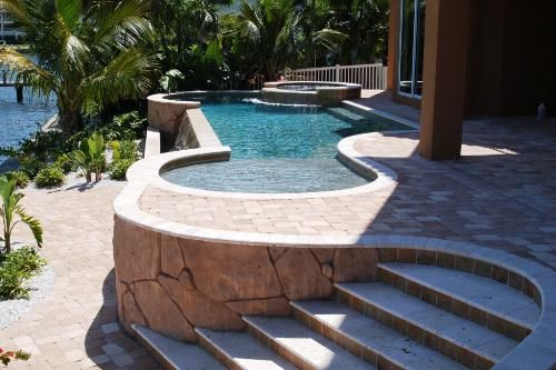 13 best future home additions images on pinterest sloped for Pool design for sloped yard