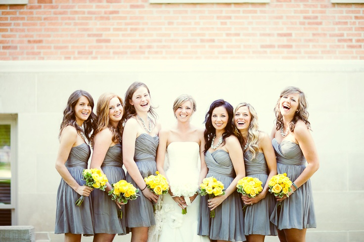 BridesmaidsWedding'S 3, Future Life, Cute Dresses, Gray Bridesmaid, Dreams Secret, Grey Bridesmaid Dresses, Wedding Colors, Bm Dresses, Gray Yellow