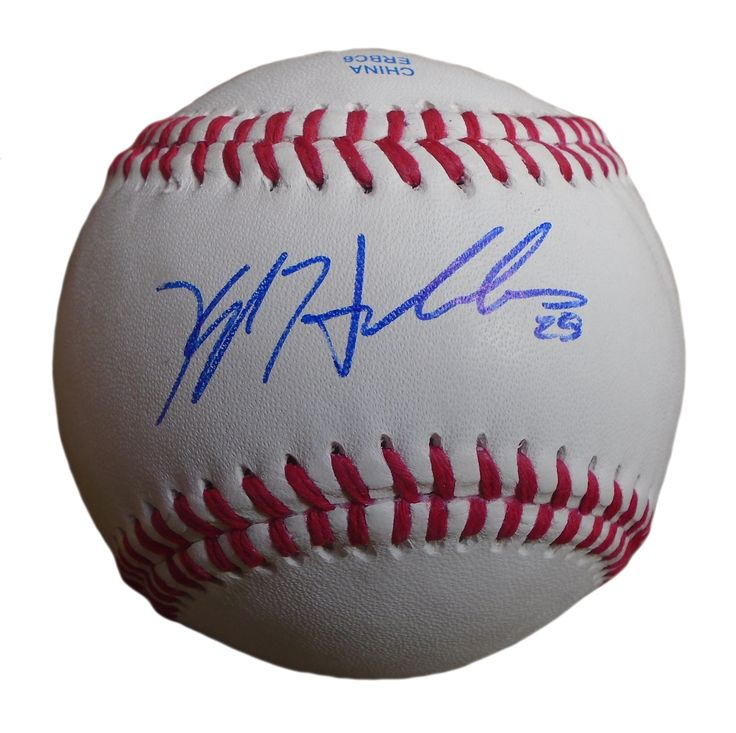 Chicago Cubs Kyle Hendricks signed Rawlings ROLB leather baseball w/ proof photo.  Proof photo of Kyle signing will be included with your purchase along with a COA issued from Southwestconnection-Memorabilia, guaranteeing the item to pass authentication services from PSA/DNA or JSA. Free USPS shipping. www.AutographedwithProof.com is your one stop for autographed collectibles from Chicago sports teams. Check back with us often, as we are always obtaining new items.