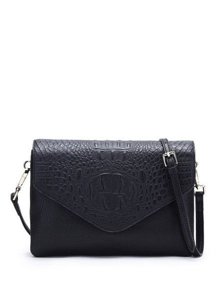 Bowie - Jamie Bag - Black Croc - Leather  $229.00